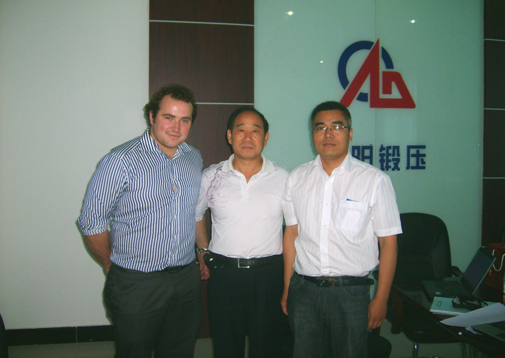 Australian forging hammer customer visit our company