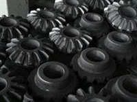 Gear forged by automatic hydraulic forging hammers
