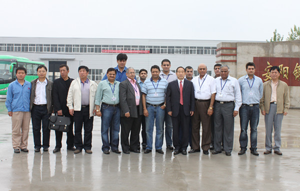 Indian forging machine customer team visit our company