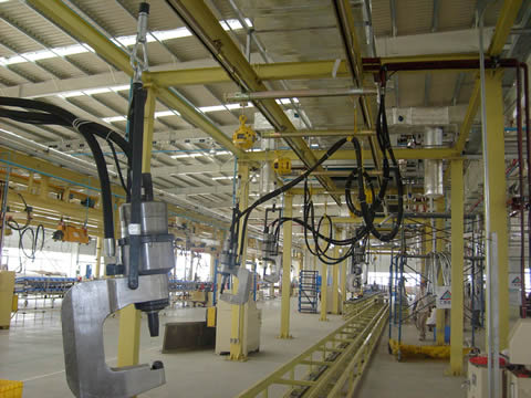 truck chassis riveting machine production line assembly