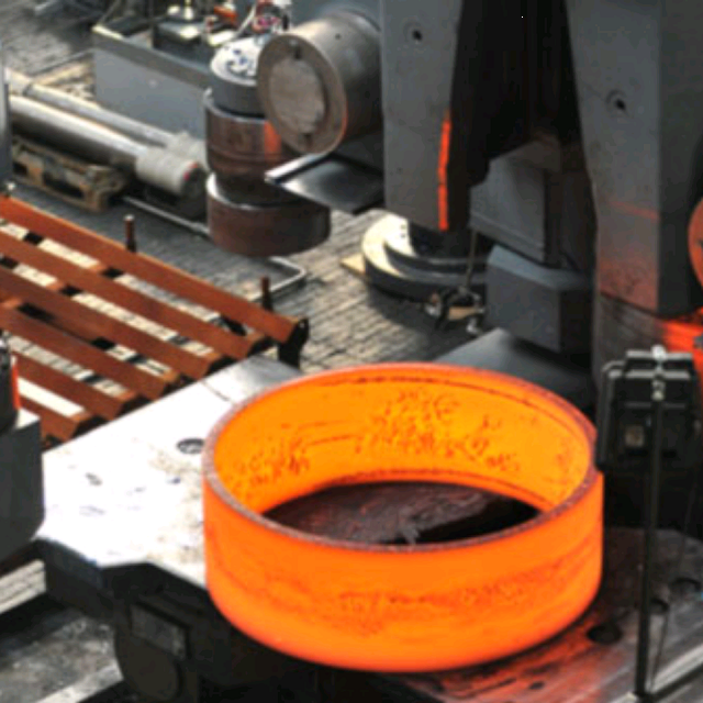 bucket ring made on automated ring rolling line