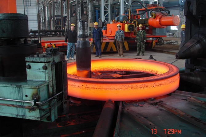 large ring rolled on radial-axial ring rolling machines