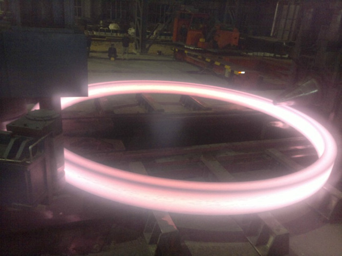 large ring rolled on 7m CNC ring rolling machine