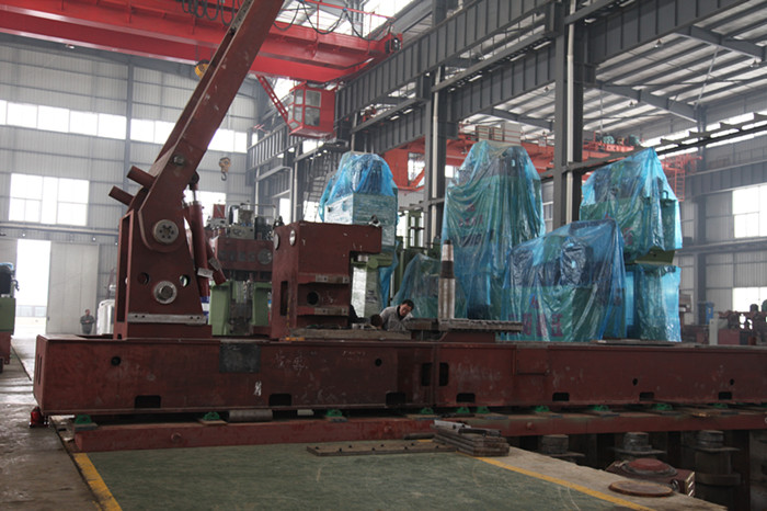 3m radial-axial ring rolling machine assembly